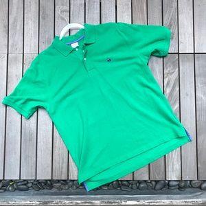 BROOKS BROTHER Green Short Sleeve VNeck Polo Shirt